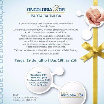 Nova unidade na Barra da Tijuca, Oncologia D'or.